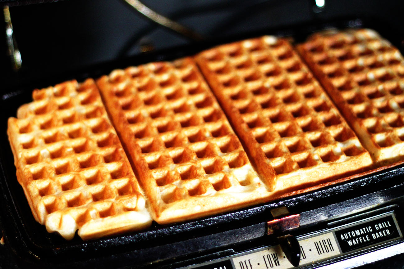 ... that waffle iron by the way. It is old and makes the best waffles